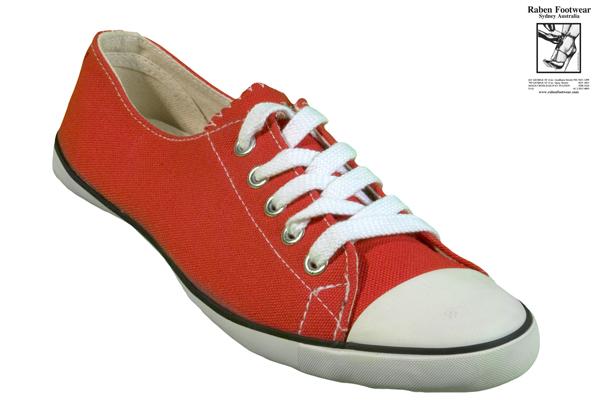 RABEN Ladies Casual Sneaker RLL1 Red