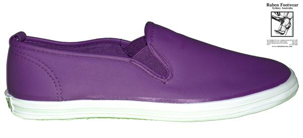 611 Purple PU White Sole