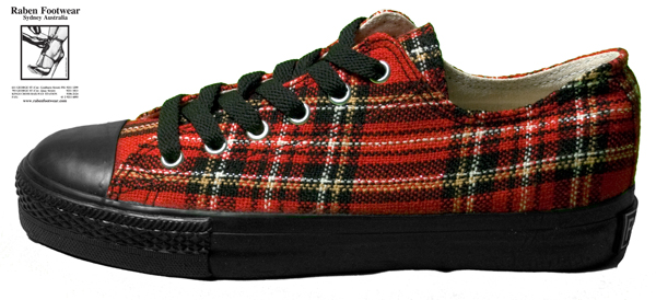 Red Tartan Gym Shoe
