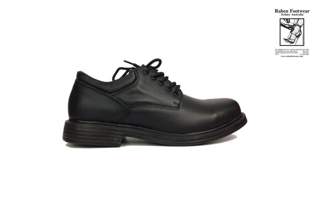 RABEN Men s Black Leather Lace Up Shoes RAB4115 - Raben Footwear 36d1045aeffd