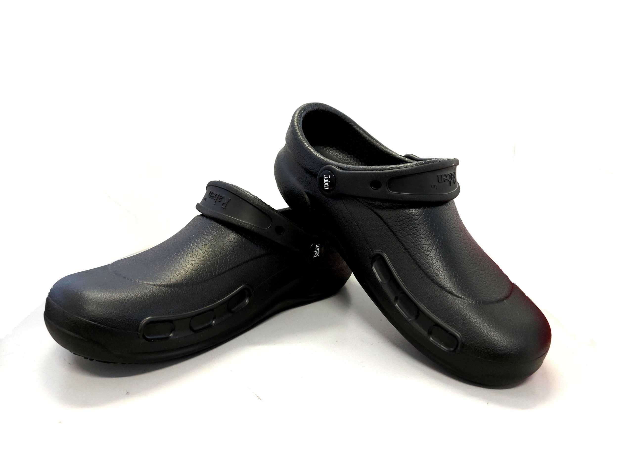 KNS-194 Kitchen Clogs in Black